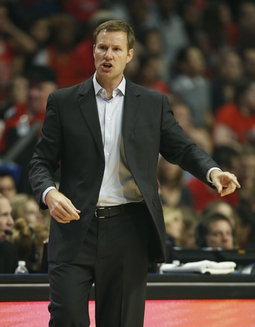 Chicago Bulls head coach Fred Hoiberg directs his team against the Orlando Magic during the first half of an NBA basketball game, Sunday, Nov. 1, 2015, in Chicago. (AP Photo/Kamil Krzaczynski)