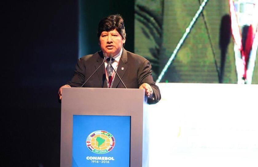 El presidente de la Federación Peruana de Fútbol Edwin Oviedo. EFE/Archivo