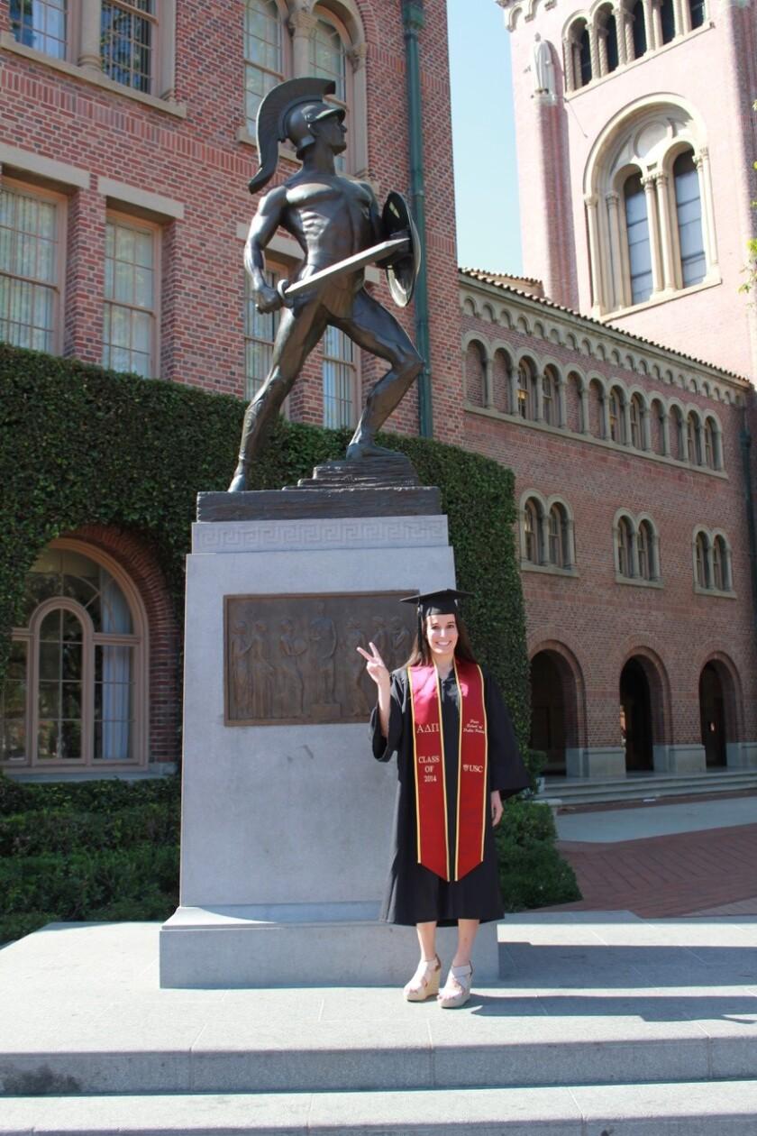 Kristen Hernandez, 27, at her USC graduation in 2014.