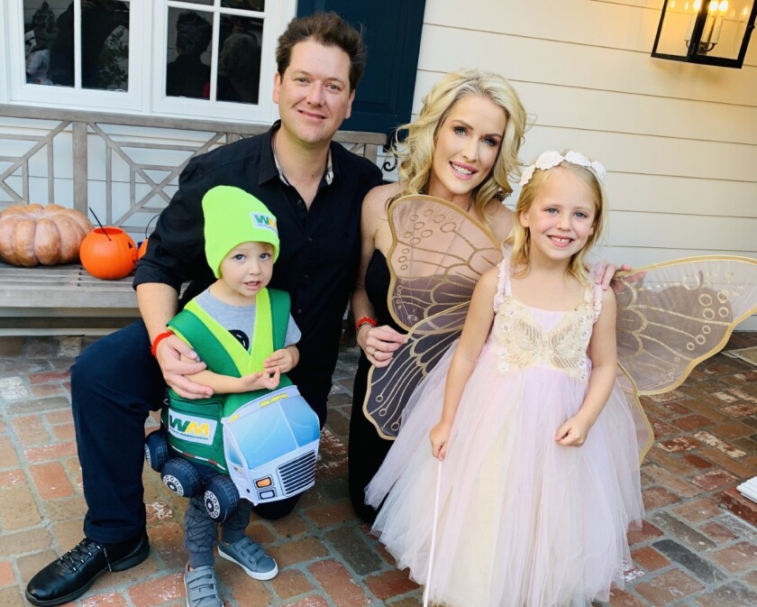 Keith and Megan Jones with their children Dylan and Ella