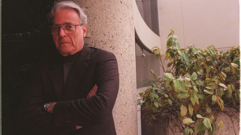 Screenwriter and novelist William Goldman photographed in Santa Monica in 2000.