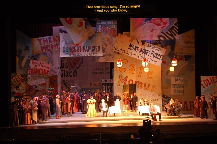 """La boheme"" scenery for San Diego Opera's drive-in production."