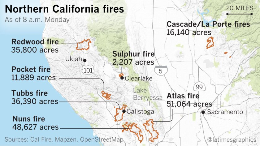 Whole towns evacuated as Northern California firestorm grows