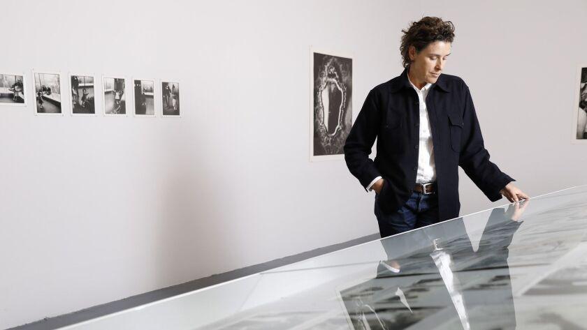 LOS ANGELES-CA-NOVEMBER 13, 2018: New York-based artist Zoe Leonard is photographed in her exhibitio