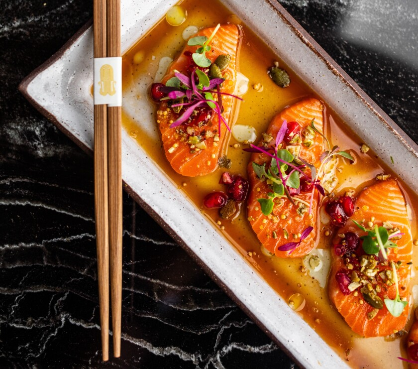 Animae's Ora King salmon is a silky explosion of textures and flavors.
