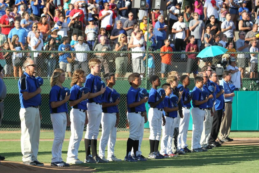 The Eastlake Little League from Chula Vista California representing Southern California beat the Belmont Redwood Shores Little League representing Northern California 9-0 to win the West Division title and move on to the Little League World Series in Williamsport, PA next week
