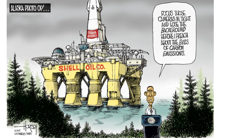 In Alaska, Obama faces contradictions in his own climate change policies