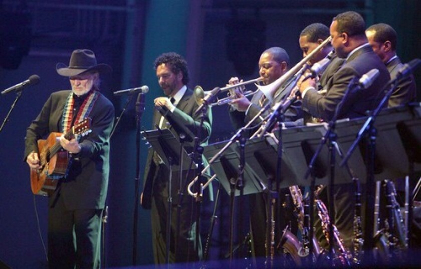 Willie Nelson performs with Wynton Marsalis