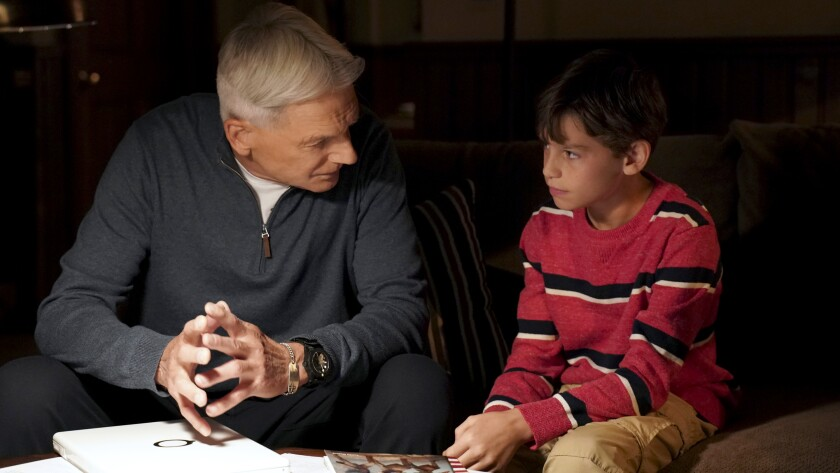 """Mark Harmon, left, and Jack Fisher in """"NCIS"""" on CBS."""