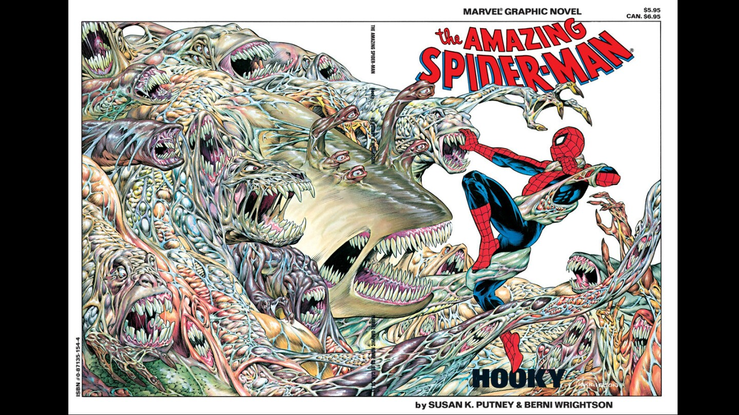 """""""The Amazing Spider-Man"""" graphic novel """"Hooky"""" by Susan K. Putney and Berni Wrightson."""