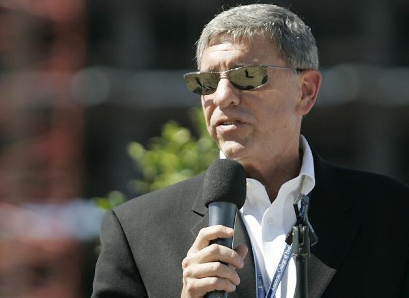 Palomar Pomerado Health CEO and President Michael Covert spoke to an audience in July, 2009,  during a ceremony at the site of the new hospital in Escondido.