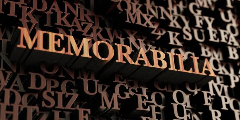 Memorabilia - Wooden 3d rendered letters/message