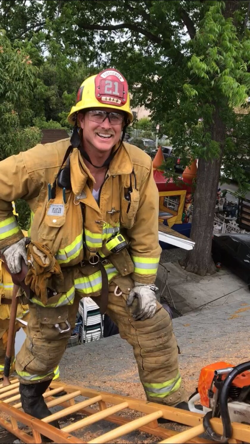 Eric Stevens is the youngest of four brothers and one of two who became firefighters.