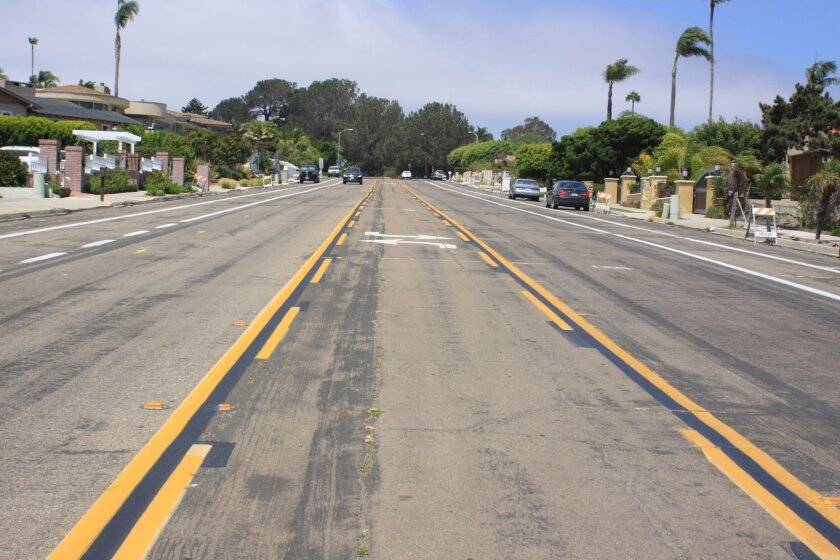 Residents argue La Jolla Mesa Drive at Cottontail Lane sees speedy drivers due to its wide, flat nature.