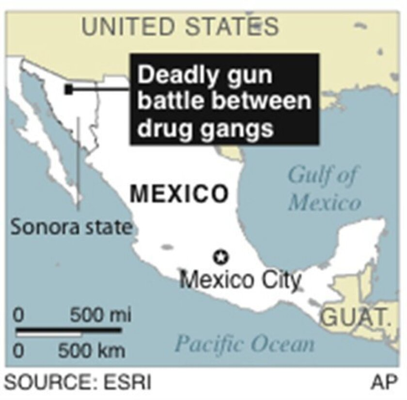 21 killed in Mexican gang shootout near US border - The San ... on california real map, california jail map, california inner city map, oxnard neighborhood map, california street gangs, san francisco bay area california map, caves in northern california map, san fernando valley zip code map, saticoy ca map, la street gangs map, dangerous parts of oakland map, california counties map region, richmond ca crime map, california good map, california compton map, california cute map, california crime map, map southern oregon northern california map, california homicide map, american gangs map,