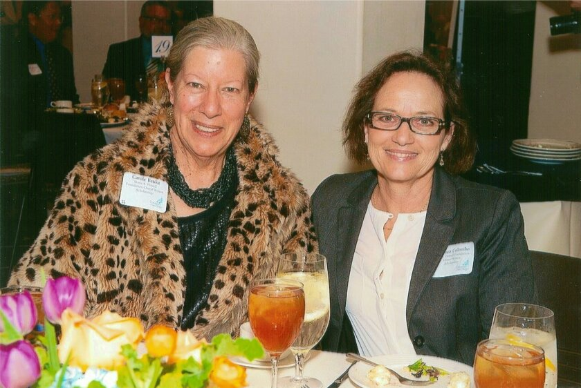 Carole Banka and Carmen Colombo, Chief Nursing Officer, Sharp Mary Birch Hospital, recipient of the 2013 Howell Foundation's nursing scholarship