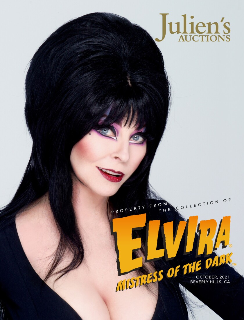 The catalog for Elvira's Julien's Auctions collection