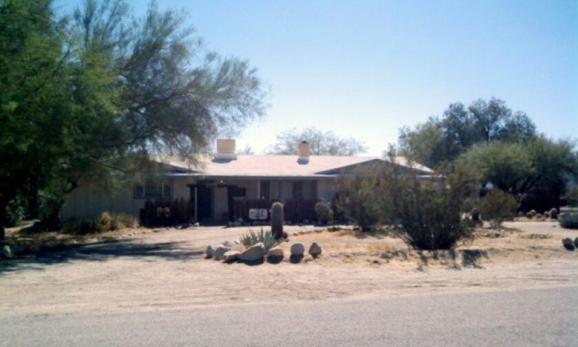 Home of Judy Winter Meier. The longtime editor of the Borrego Sun and one of the best known members of the Borrego Springs community, was found dead in her home Monday night, the apparent victim of a murder-suicide, officials said.
