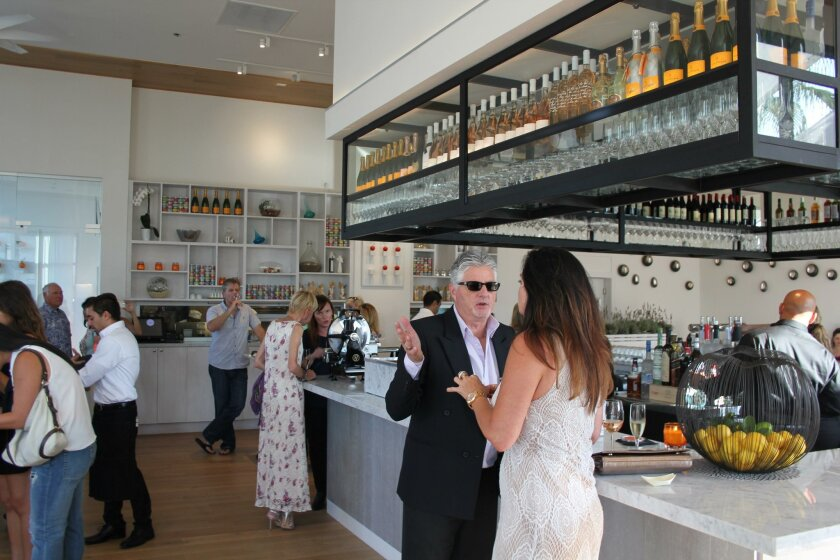 Guests inside the new Crudo.