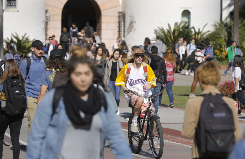 SDSU will have far fewer students on campus this fall. But there's still great concern about the possible spread of COVID-19.