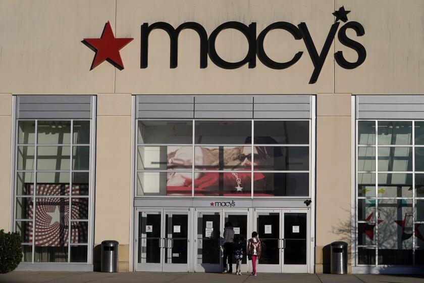 Una tienda Macy's en Charlotte, Carolina del Norte el 22 de febrero del 2021.