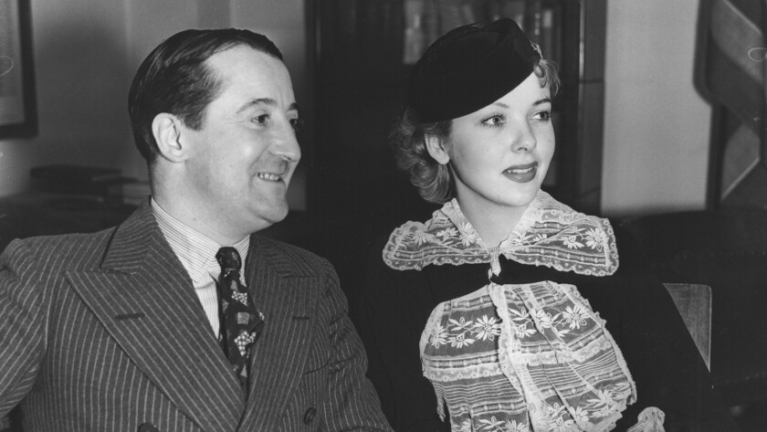 December 31, 1935. In Hollywood on a Paramount contract, actress Ida Lupino and her father, film com