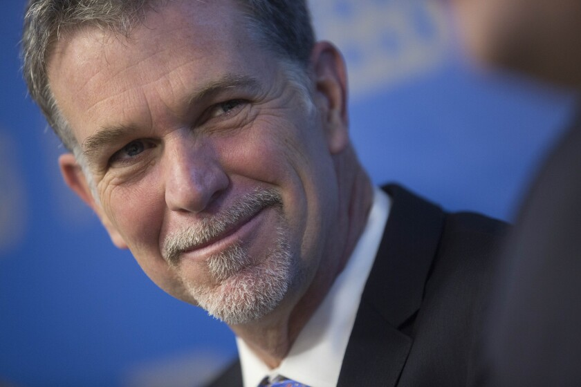 Netflix co-founder Reed Hastings has contributed close to $7 million to California Charter Schools Assn. Advocates since September.