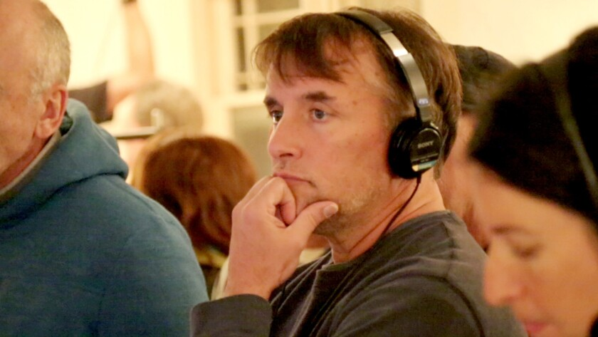 """Director Richard Linklater on the set in """"American Masters: Richard Linklater"""" on PBS."""