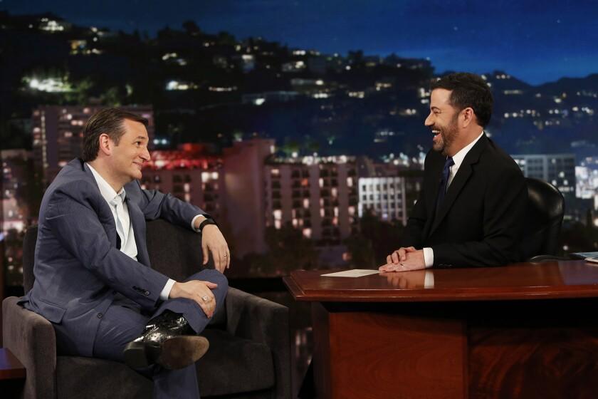 Ted Cruz and Jimmy Kimmel