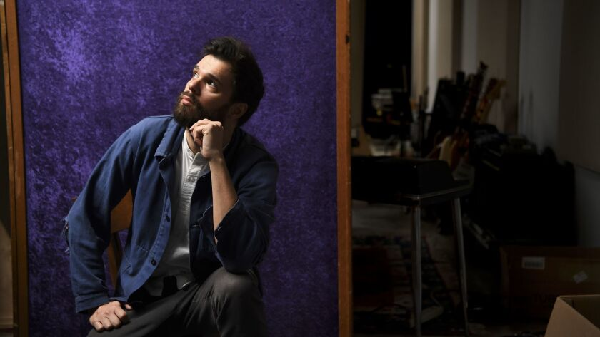 Dave Longstreth of Dirty Projectors in his studio in Los Angeles.