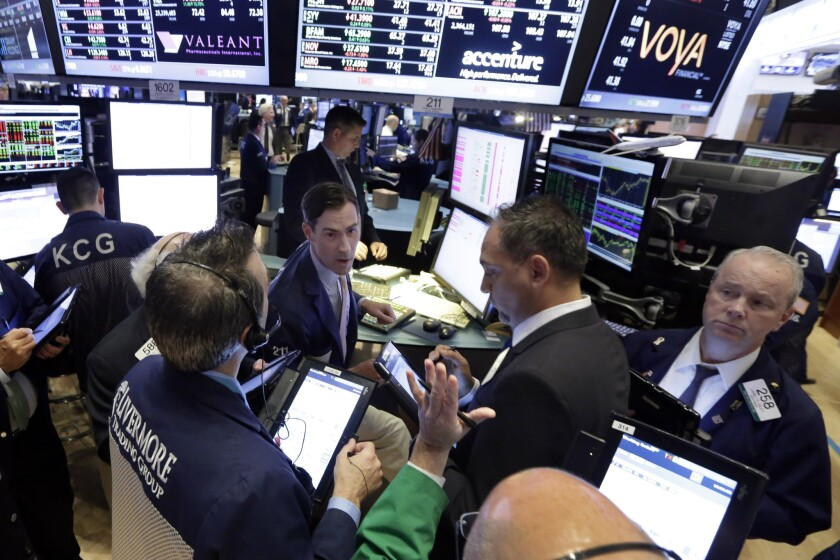 The Dow Jones industrial average rose aggressively Monday and registered strong gains this week, as did other major indexes, a marked difference from the aftereffects of many prior tragedies.