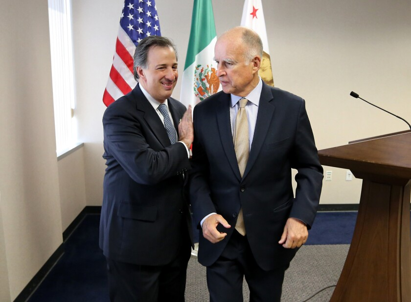 Jose Antonio Meade Kuribrena, Jerry Brown