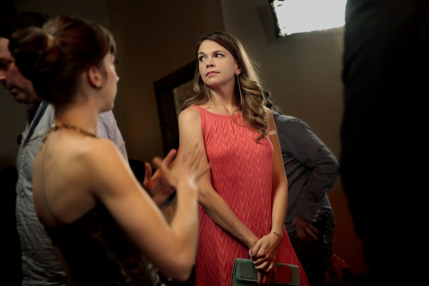 "Molly Bernard, left, and Sutton Foster in ""Younger."""