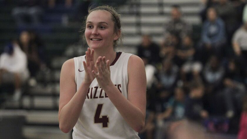 Mission Hills' Kathryn Neff (shown in an earlier game) scored 20 points in the Grizzlies' win over Christian on Thursday.