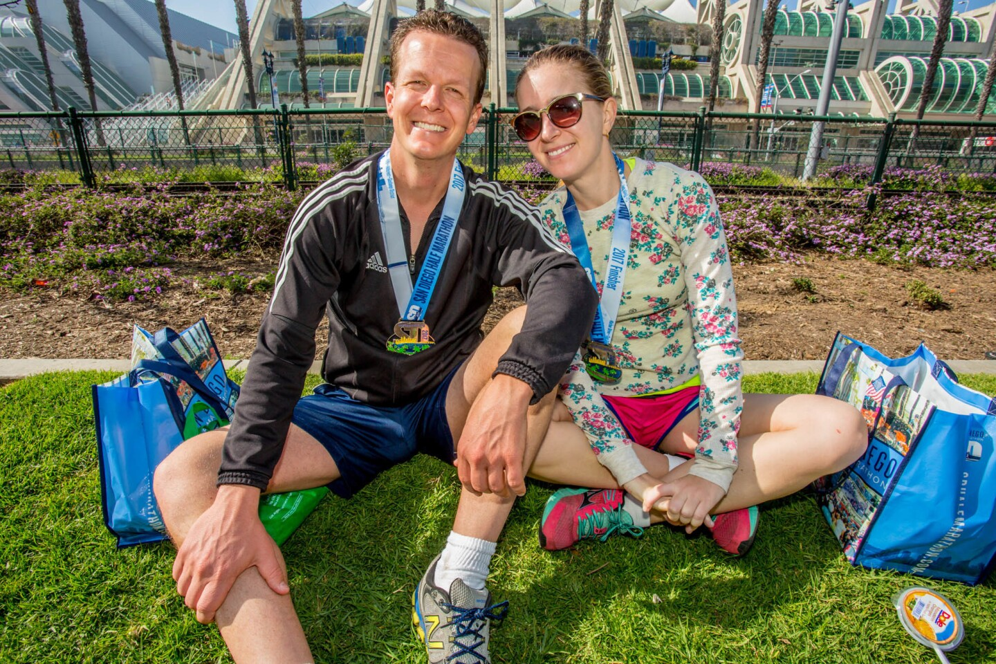 Running 13.1 miles is one way of exploring San Diego and that's just what these runners did during the San Diego Half Marathon on Sunday, March 12, 2017. (Bradley Schweit)