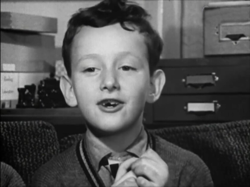 """Archive picture shows Andrew Brackfield in a scene from """"63 Up."""""""