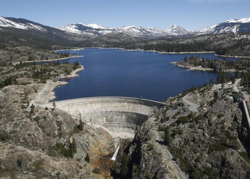 Hydroelectric dam at Spaulding Lake