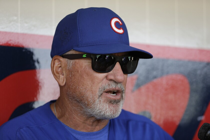 Season opener in Angel Stadium is homecoming night for Cubs Manager Joe Maddon