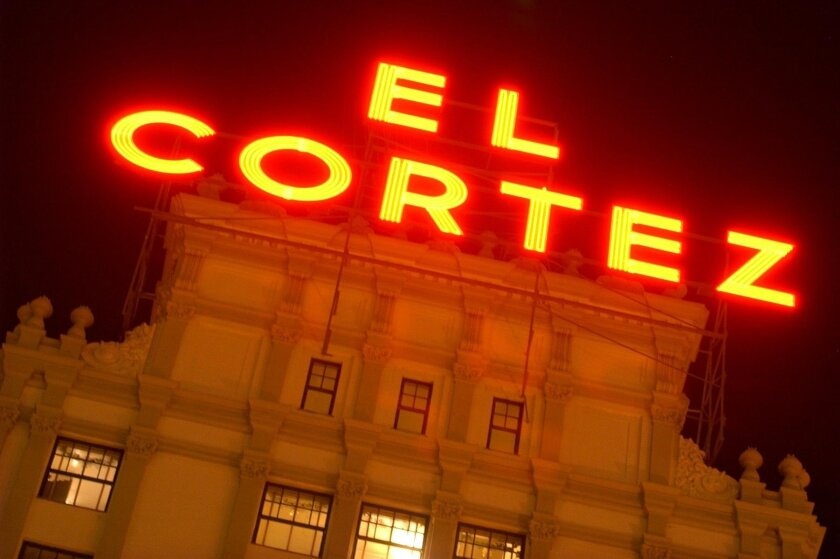 The neon sign atop El Cortez Hotel has been a landmark for decades. The downtown building, opened in 1927, was converted to residential use in 2000.