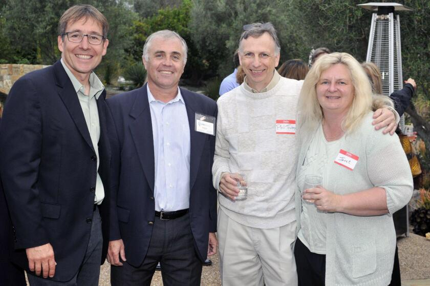 CureMatch President/COO Stephane Richard, VP Engineering Philippe Faurie, Phil and Janet Trubey