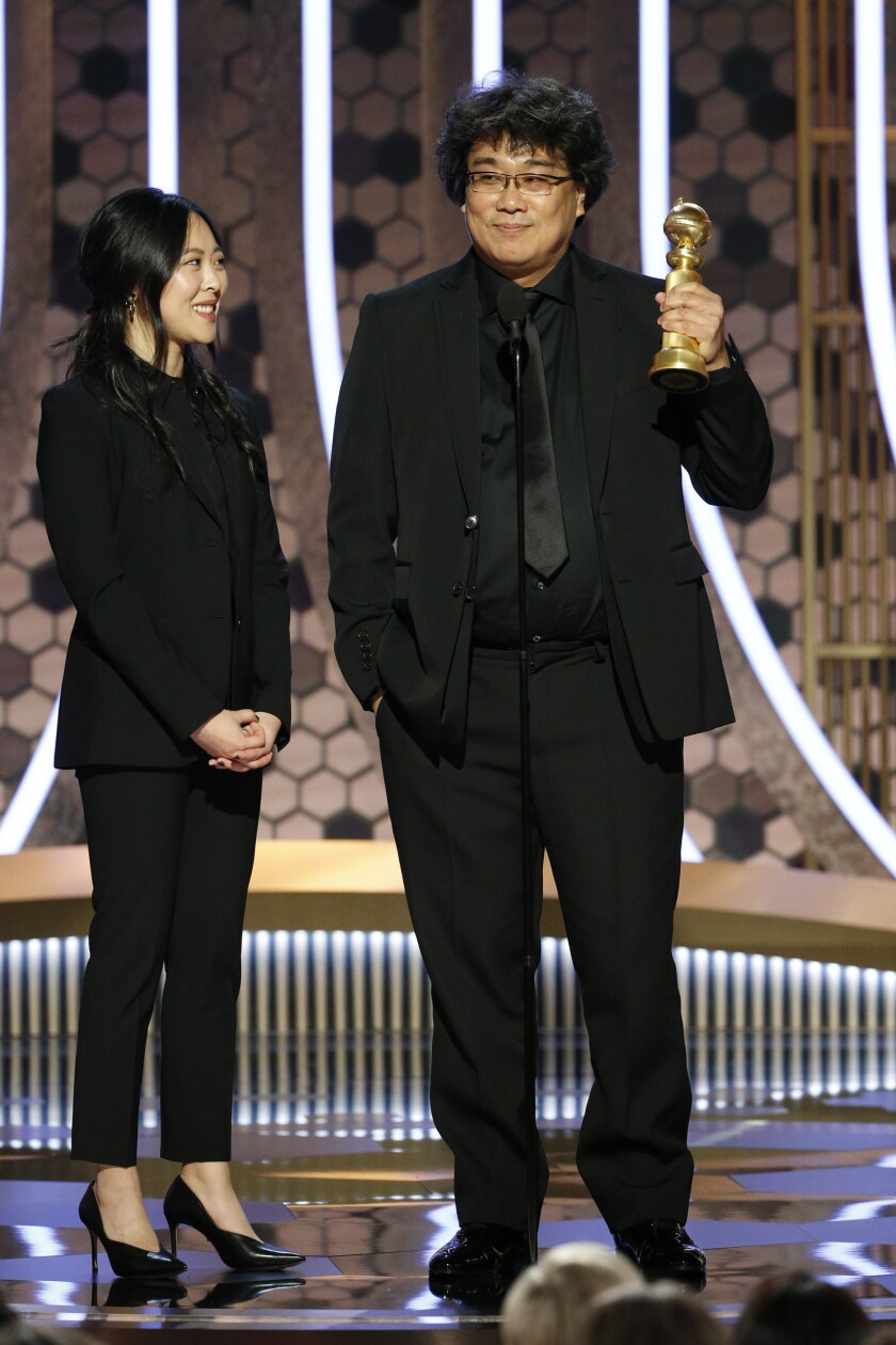 Director Bong Joon Ho at the 77th Golden Globes