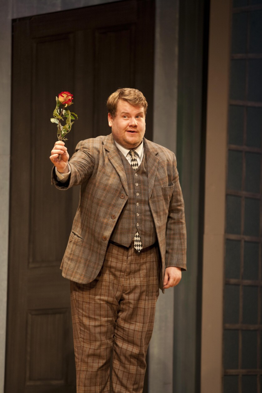 "James Corden won a Tony Award for ""One Man, Two Guvnors."""
