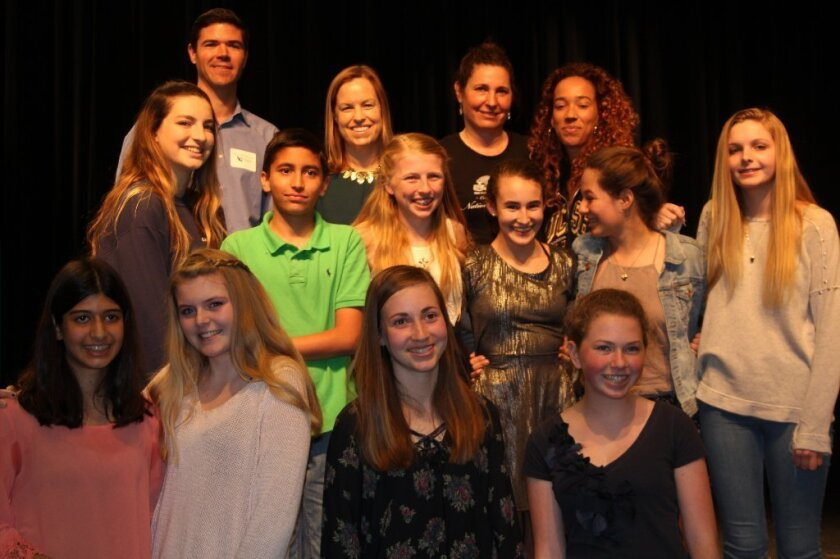 Speech contest participants and judges. Photo by Karen Billing