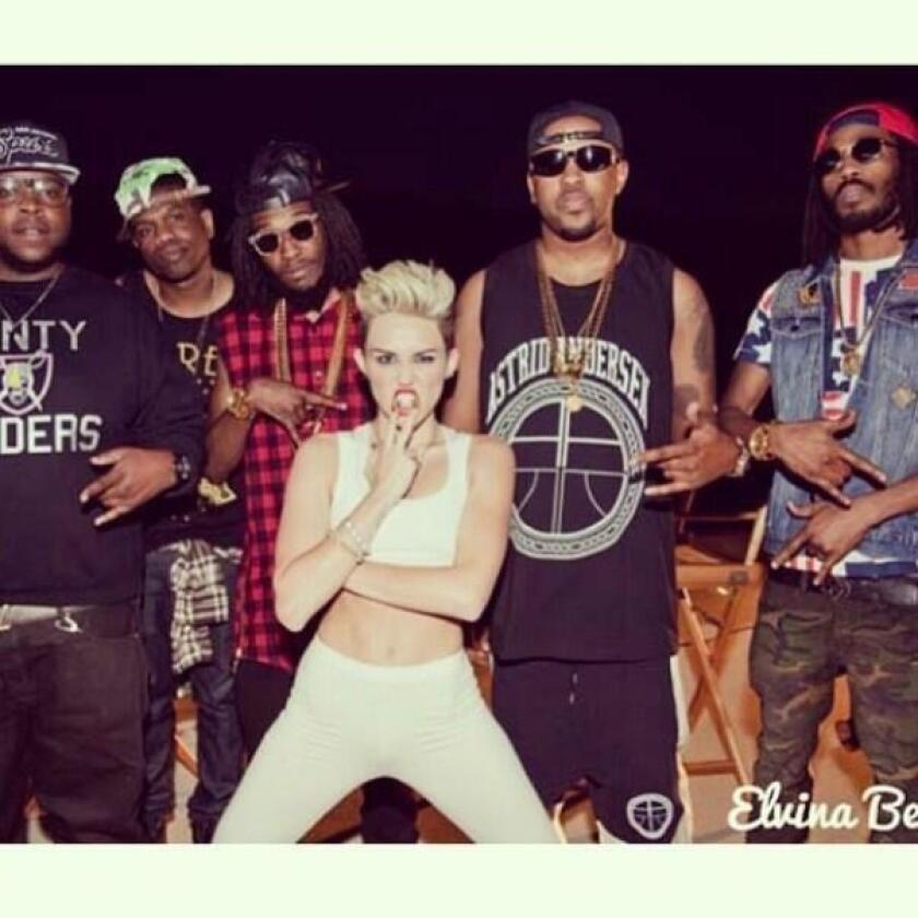 """Miley Cyrus tweeted a photo of herself from her forthcoming video for """"We Can't Stop"""""""