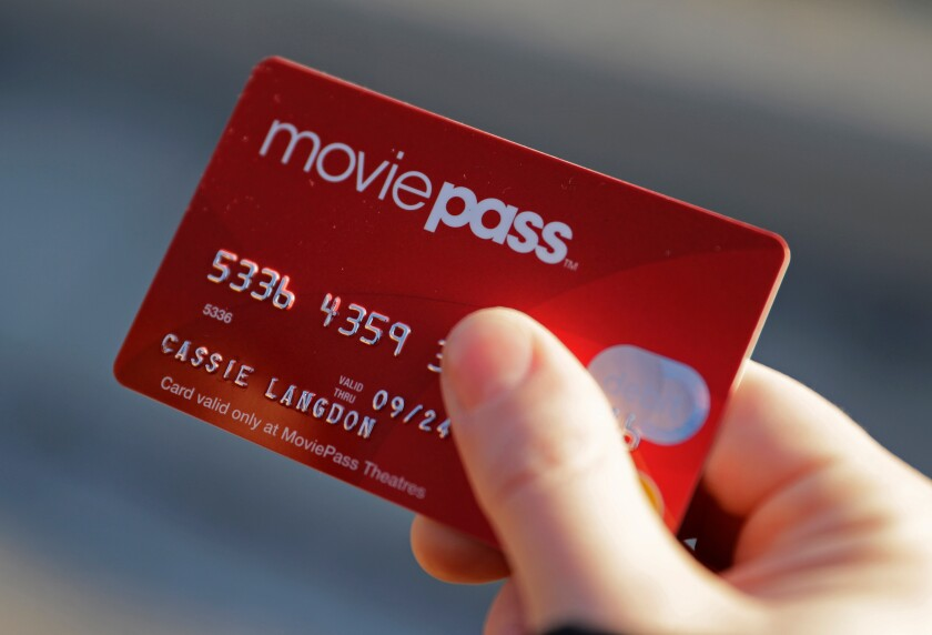 A MoviePass debit cards