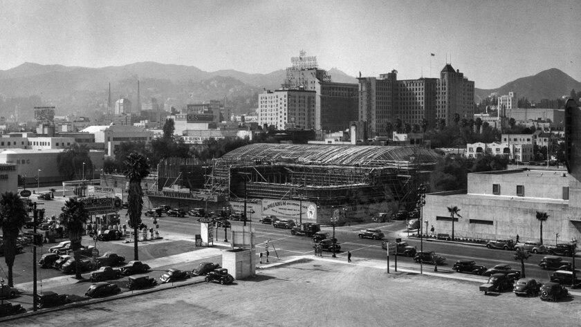 Aug. 15, 1940: The half-completed Hollywood Palladium sits on Sunset Boulevard.
