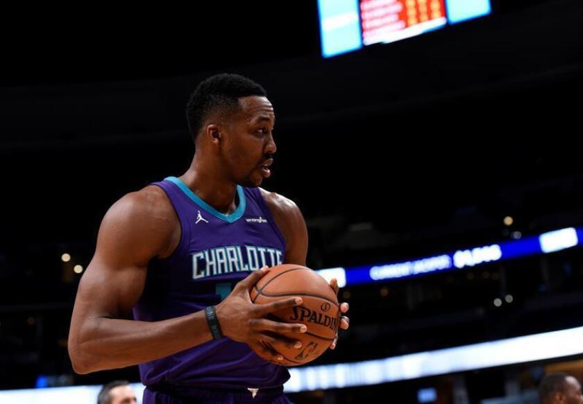 El jugador Dwight Howard de los Charlotte Hornets. EFE/Archivo