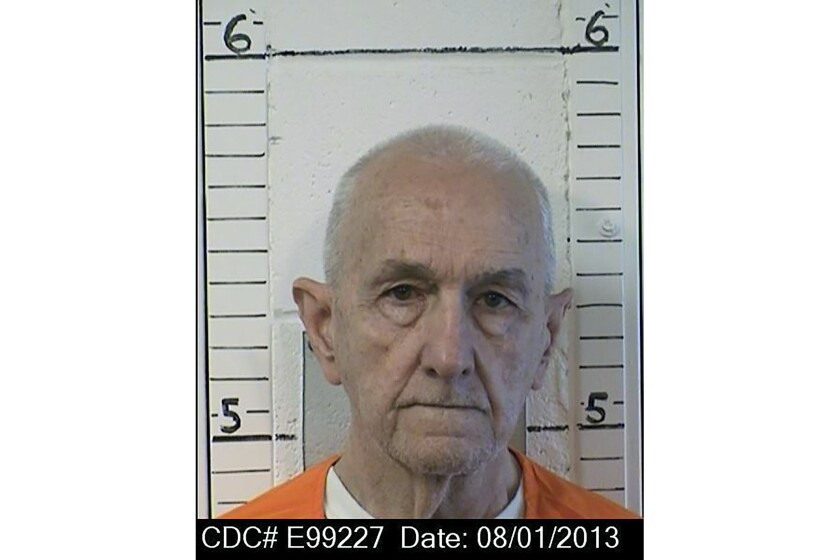 """This photo provided by the California Department of Correction and Rehabilitation shows inmate Roger Reece Kibbe, 81. Kibbe a serial killer known as the """"I-5 Strangler"""" in the 1970s and 1980s has been killed in the prison where he was serving multiple life sentences, state correctional officials said Monday, March 1, 2021. Kibbe, was unresponsive in his cell at Mule Creek State Prison southeast of Sacramento shortly after midnight Sunday. (CDCR via AP)"""