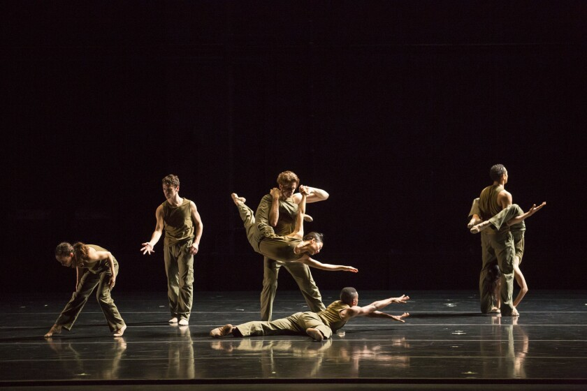 "Jessica Lang Dance performing ""Thousand Yard Stare"" in 2015. The piece was one of eight performed Friday at the Irvine Barclay Theatre."