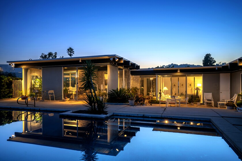 Built by architect Tracy Price, the Japanese-inspired Midcentury emphasizes clean lines and indoor-outdoor living with walls of glass and a variety of outdoor spaces.